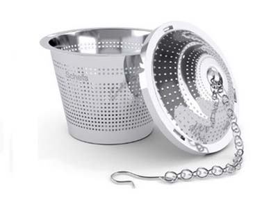 large stainless steel tea ball infuser