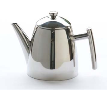 stainless steel teapot with infuser