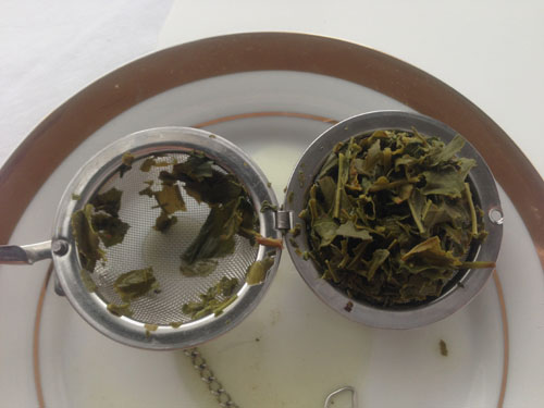 loose leaf tea using tea ball