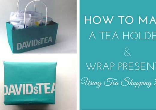 how to make a tea holder and wrap presents using davidstea shopping bags