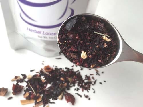 strawberry hibiscus herbal tea by sterling tea