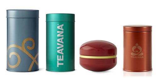 tea tins by teavana