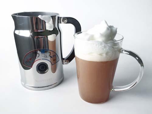 nespresso automatic milk frother tea latte
